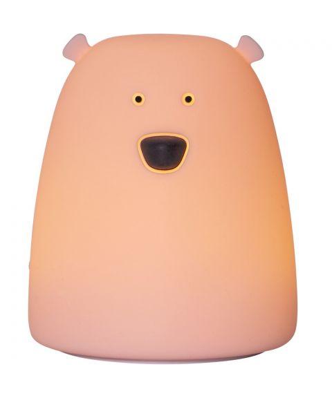 Functional Bear nattlampe liten, for batteri, høyde 10 cm, Farget+Varmhvitt lys