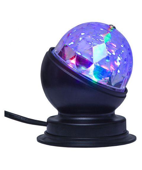 Disco bordlampe, 3W RGB, høyde 10 cm
