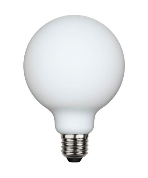 Globe E27 95mm 2700K Opal 5W LED 400 lm CRI90, Dimbar