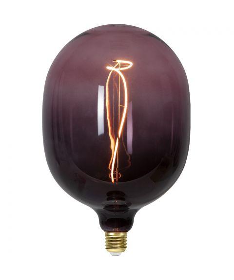 Colourmix C150 dekorpære 4W dimbar LED 60lm 1800K, Sort/Rosa