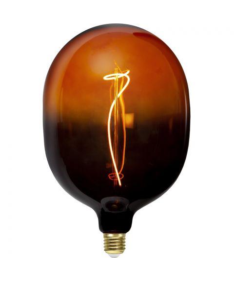 Colourmix C150 dekorpære 4W dimbar LED 72lm 2400K, Sort/Cognac
