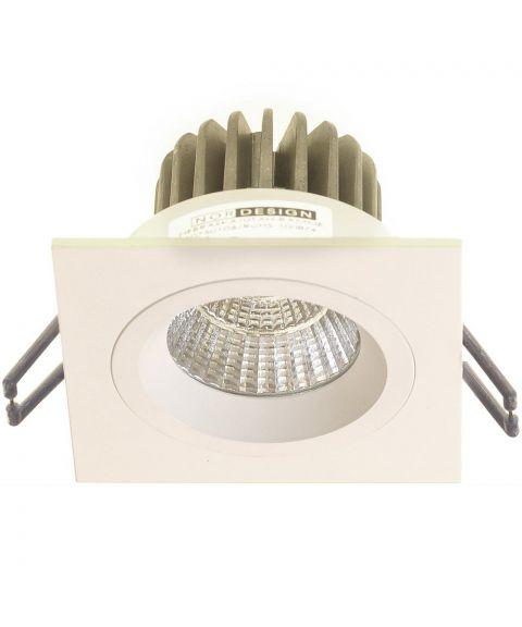 Nebraska HL firkantet downlight, 45°, 9W LED