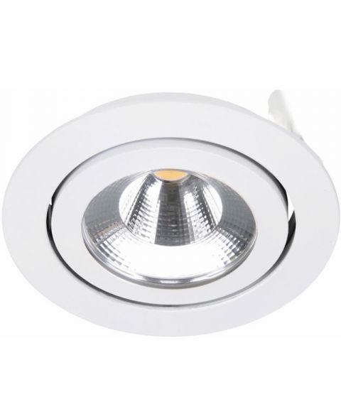 Nelson downlight, med tilt, 5W LED, (Utenpåliggende), diameter 8 cm