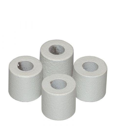 Avstandsstykker, pakke med 4, Hvit