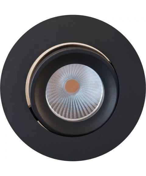 Idaho downlight med tilt, dimbar LED 2700K 500lm, Fire Rated IP65