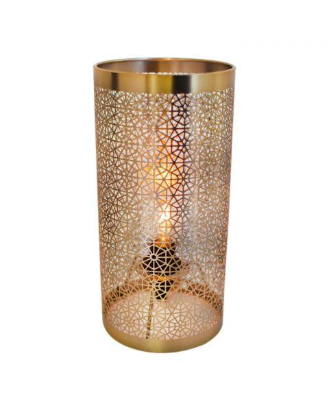 Hermine bordlampe, høyde 28 cm, Messingfarget