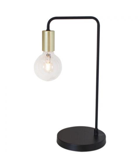 Fondi bordlampe, høyde 45 cm, Matt sort