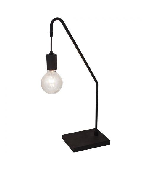 Rod bordlampe, høyde 60 cm, Sort