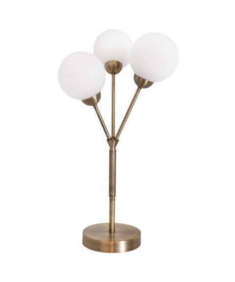 3Some bordlampe, høyde 60 cm, Antikk gull