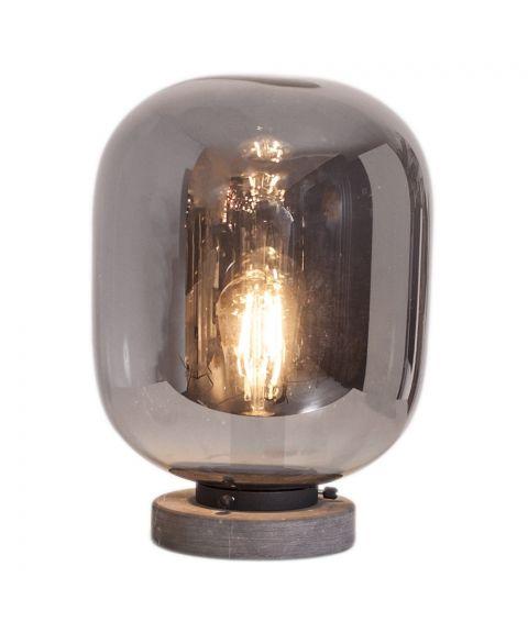 Leola bordlampe, høyde 31 cm, Sort/Røkfarget