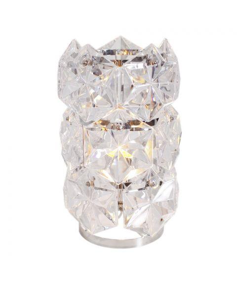 Monarque bordlampe, høyde 31 cm, Krom/Klar