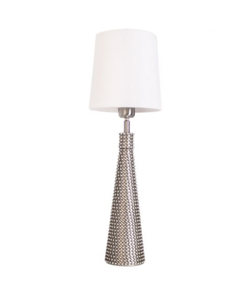 Lofty Slim bordlampe, høyde 54 cm, Satin/Hvit lampeskjerm