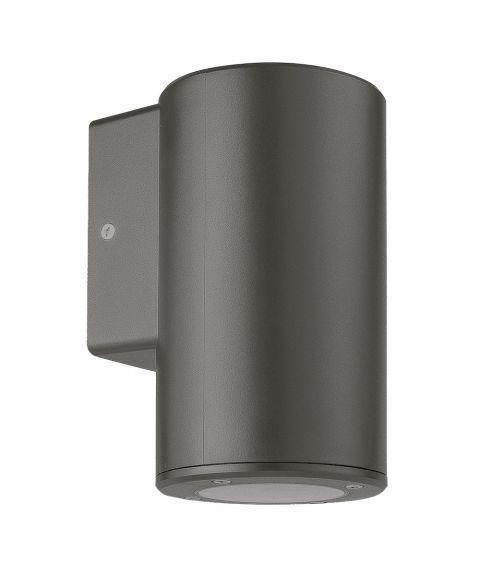 Cylindro vegglampe, lys ned for GU10, polykarbonat, Antrasitt