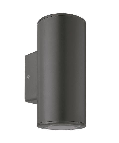 Cylindro duo vegglampe, lys opp og ned for GU10, polykarbonat, Antrasitt