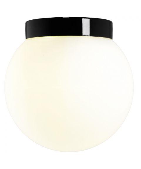 Classic Glob 300 taklampe E27 IP44, Matt opalhvitt glass