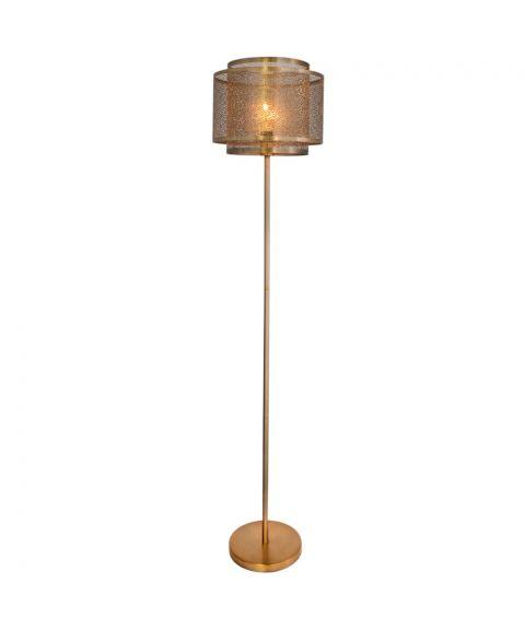 Hermine gulvlampe, høyde 157 cm, Messingfarget