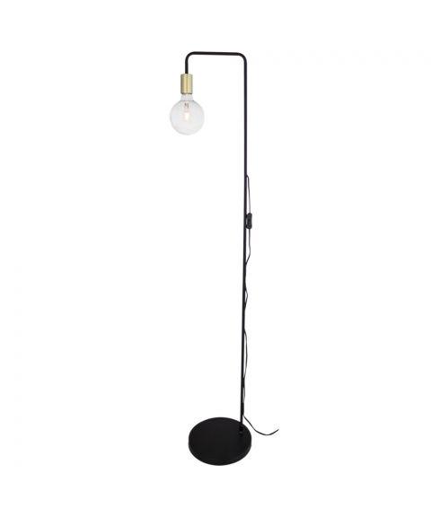 Fondi gulvlampe, høyde 150 cm, Matt sort