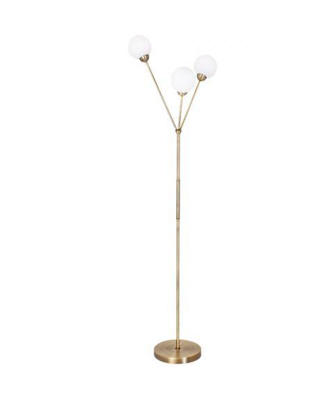 3Some gulvlampe, høyde 167 cm, Antikk gull