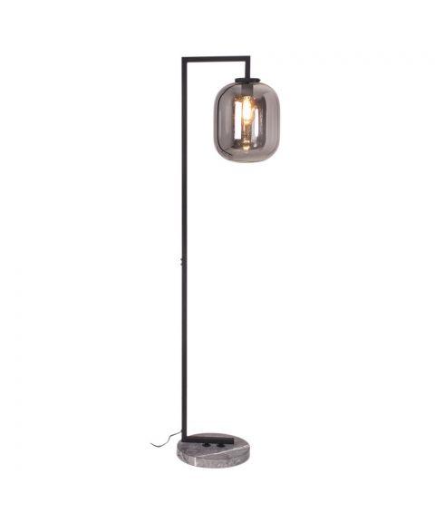 Leola gulvlampe, høyde 150 cm, Sort/Røkfarget