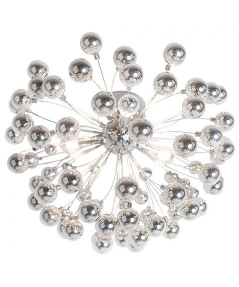 Carroll taklampe, diameter 58 cm, Krom