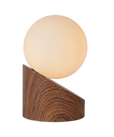 Len bordlampe, høyde 16 cm, Mørkt tre (restlager)