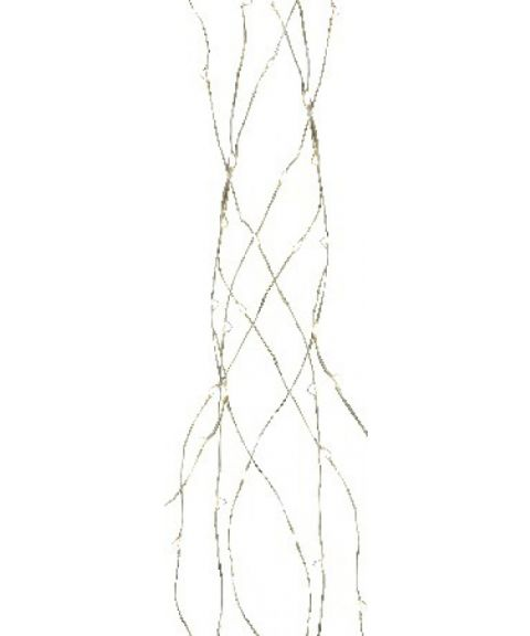 Bukettslynge med duggdråper, 140 cm, LED (x125), Kaldhvit