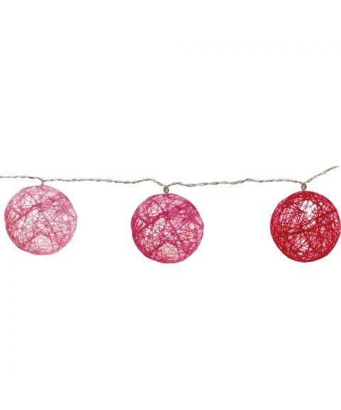Festlenke Jolly Light slynge trådball, LED (x10), Rosa