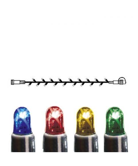 [2] Utvidelse System LED - Lysslynge 500 cm, LED (x50), Sort kabel, Flerfarget