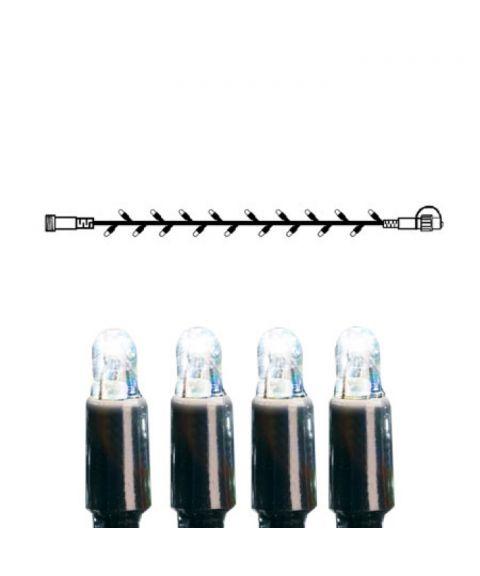[2] Utvidelse System LED - Lysslynge 500 cm, LED (x50), Sort kabel, Kaldhvit