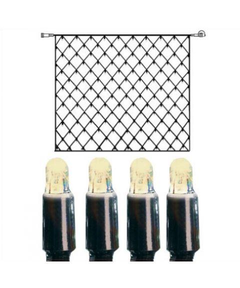 [2] Utvidelse System LED - Lysnett 300x300 cm, LED (x192), Sort kabel, Varmhvit