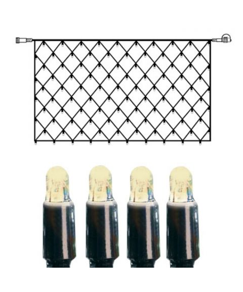 [2] Utvidelse System LED - Lysnett 200x100 cm, LED (x100), Sort kabel, Varmhvit