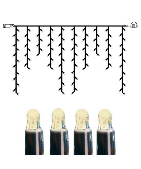 [2] Utvidelse System LED - Lysgardin 200x100 cm, LED (x100), Sort kabel, Varmhvit