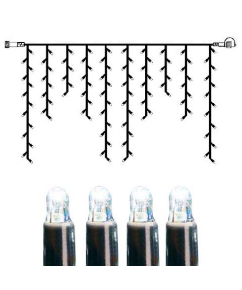 [2] Utvidelse System LED - Lysgardin 200x100 cm, LED (x100), Sort kabel, Kaldhvit