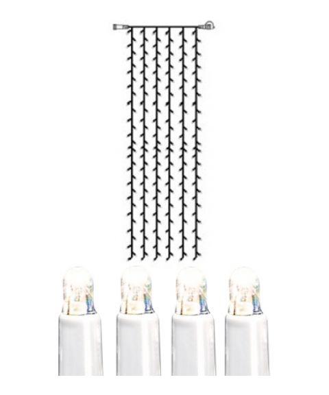 [2] Utvidelse System LED - Lysgardin 100x400 cm, LED (x204), Hvit kabel, Kaldhvit
