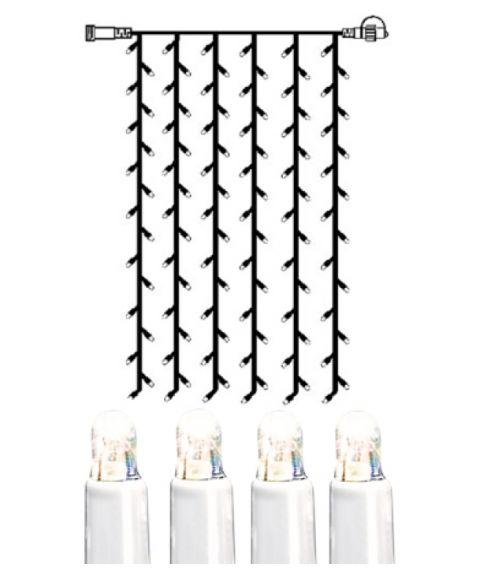 [2] Utvidelse System LED - Lysgardin 100x200 cm, LED (x102), Hvit kabel, Kaldhvit