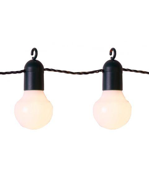 LED Lyslenke, Lyskule (x20), 570 cm, diameter 5 cm, Varmhvite