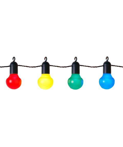 LED Lyslenke, Lyskule (x20), 570 cm, diameter 5 cm, Fargede