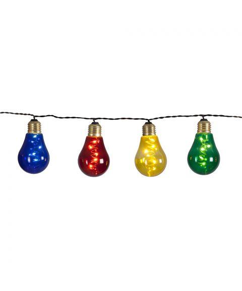 Glow lysslynge, 360 cm, LED (x10), sort kabel, Flerfarget lys