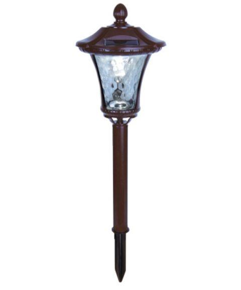 Hagespyd med dekorlys, Brun Lykt, høyde 45 cm, Solcelle, LED (restlager)