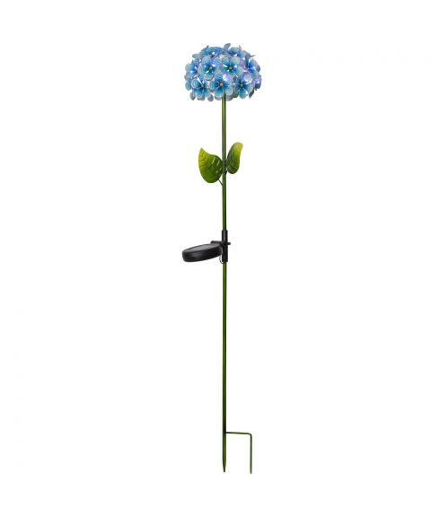 Hortensia på pinne, Solcelle, Blå