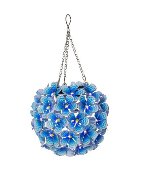 Hortensia hengende dekorasjon, Solcelle, Blå