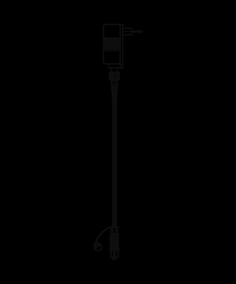 [1] Start System 24, Transformator 20W (max), 150 cm ledning, Sort
