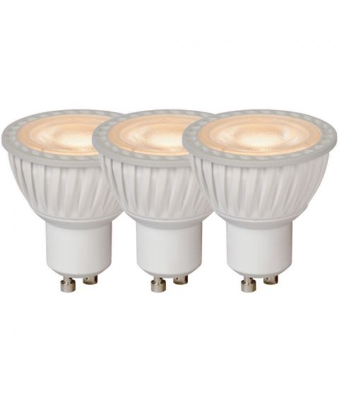 Lyspære LED 3xGU10/5W 40° dimbar 320lm 3000K, Hvit (restlager)