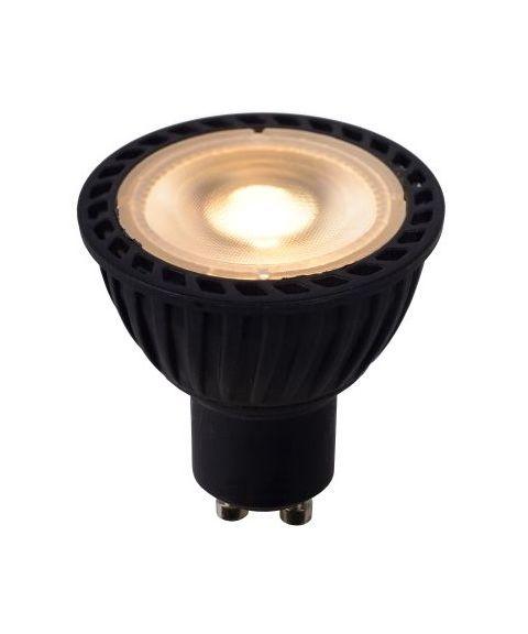 GU10 40° 2200K-3000K 5W LED 320lm, Sort, Dim To Warm (restlager)