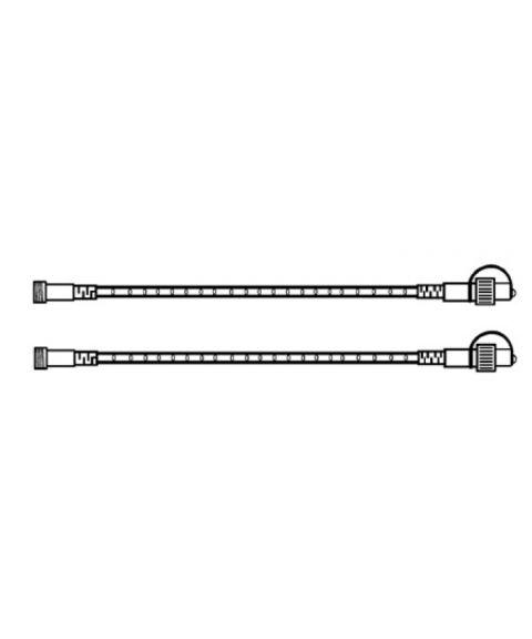 [2] Utvidelse System 24 - Lystau 100 cm, Varmhvit LED, 2-pakning