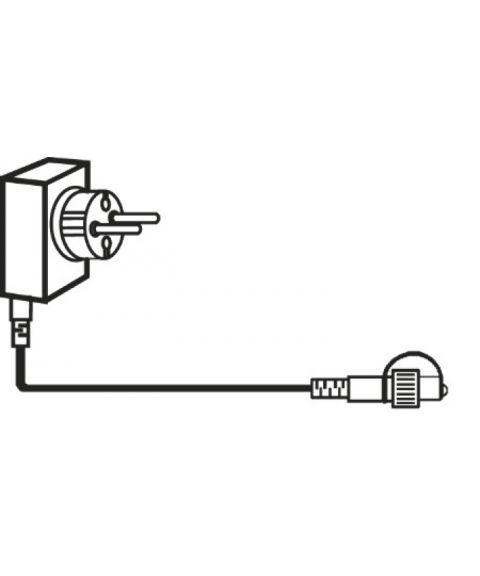 [1] Start System Decor, Transformator 24VDC 12W (max), 5 meter ledning