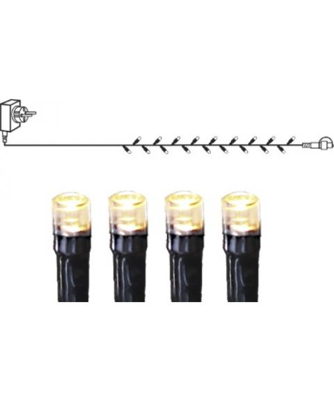 [1] Start System Decor + Slynge 10 meter, LED (x100), Sort kabel, Varmhvit