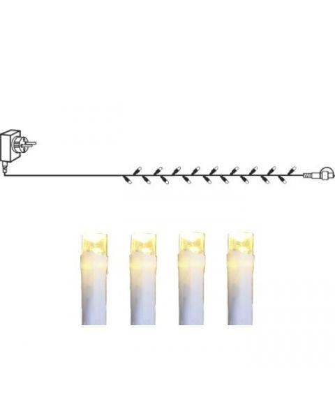 [1] Start System Decor + Slynge 10 meter, LED (x100), Hvit kabel, Varmhvit