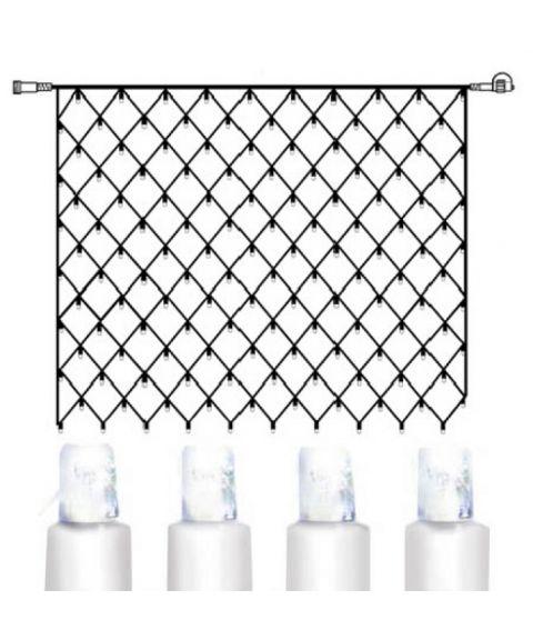 [2] Utvidelse System Decor - Lysnett 200x150 cm, LED (x100), Transparent kabel, Kaldhvit