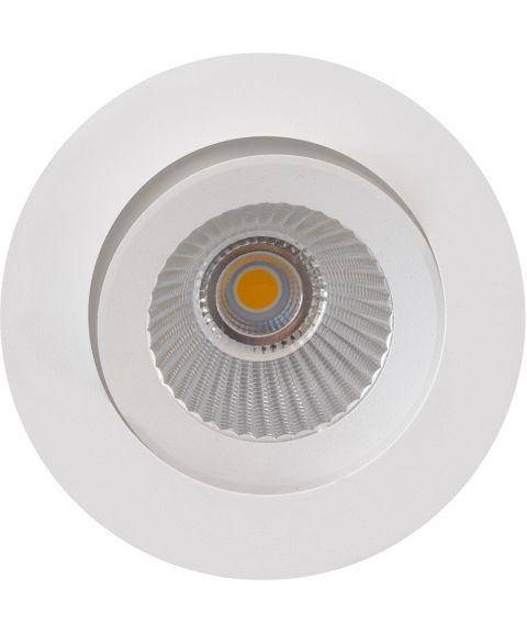E95 downlight med tilt, 7W LED 2700K, inklusive Flex Install driver, Hvit (RAL9010)